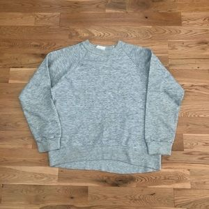 Vintage 80's Blank Triblend Gray Crewneck Sweater
